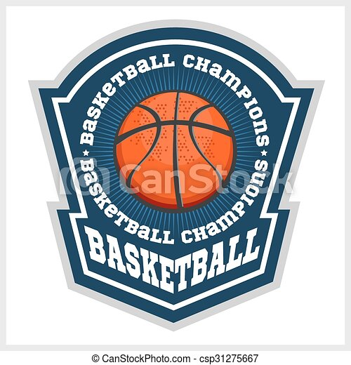 Basketball championship - vector emblem for t-shirt - csp31275667