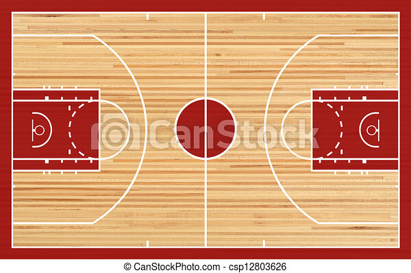 basketball court floor plan on parquet background rh canstockphoto com basketball court clipart black and white basketball court background clipart