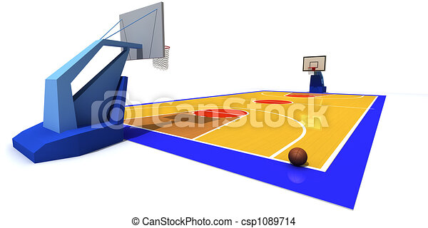 3d rendered illustration of basketball court drawing search clip rh canstockphoto com basketball court top view clipart basketball court clipart free