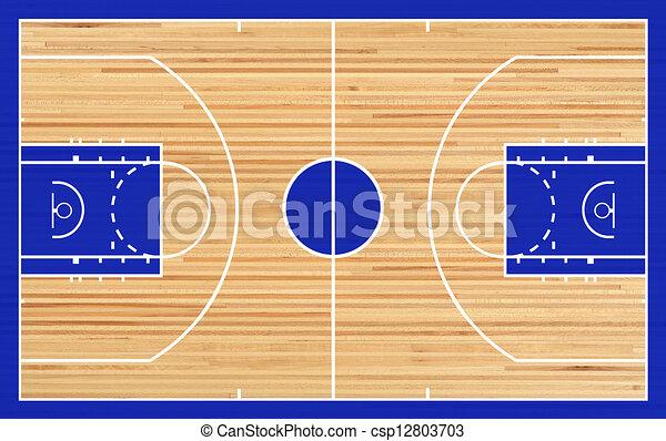 Basketball court - csp12803703