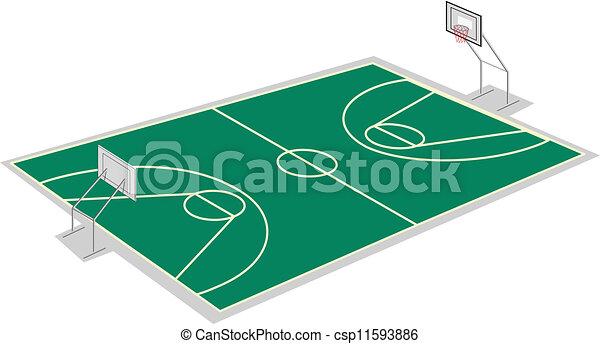 basketball court - csp11593886