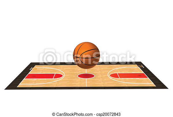 illustration of a basketball court with wooden floor eps vector rh canstockphoto co uk free clipart basketball court clipart basketball court