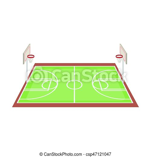 basketball court basketball single icon in cartoon style eps rh canstockphoto com Indoor Basketball Court Cartoon Basketball Players