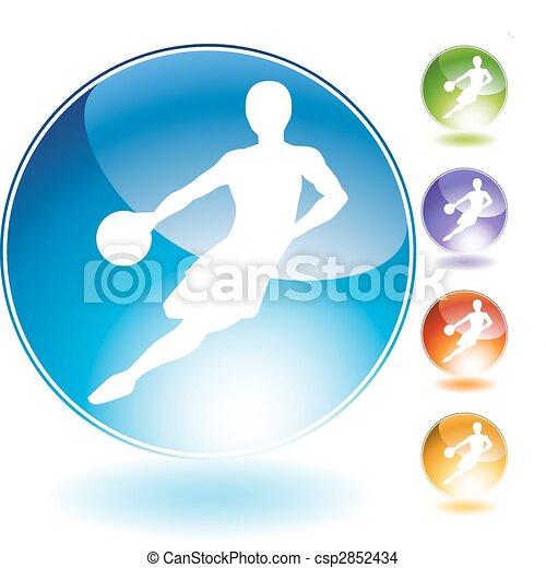 Basketball Crystal Icon - csp2852434