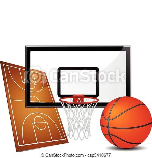 Basketball design elements - csp5410677