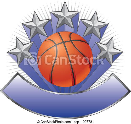 Basketball Design Emblem Award - csp11927781