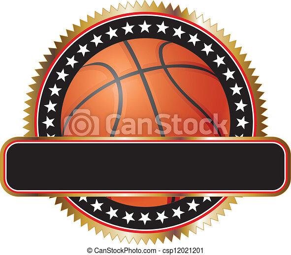 Basketball Design Emblem Stars - csp12021201