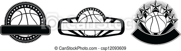 Basketball Design Emblem Templates - csp12093609