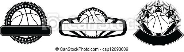 Basketball Design Emblem Templates - csp12093609