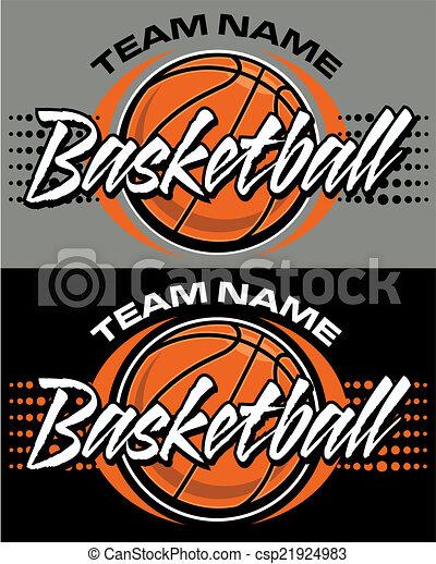 basketball design - csp21924983