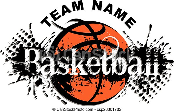 basketball design basketball team design with splatter and ball