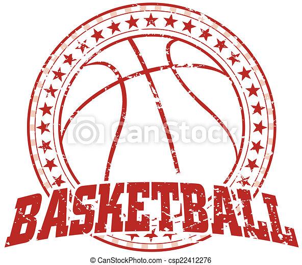 Basketball Design - Vintage - csp22412276