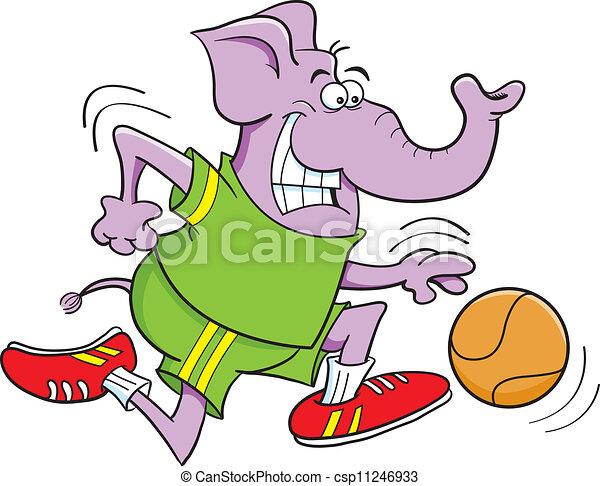 basketball elephant - csp11246933