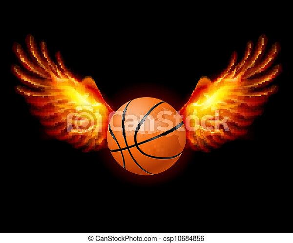 Basketball-Fiery wings - csp10684856