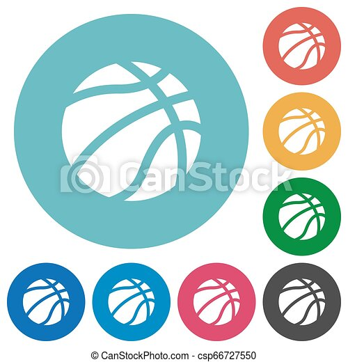 Basketball flat round icons - csp66727550