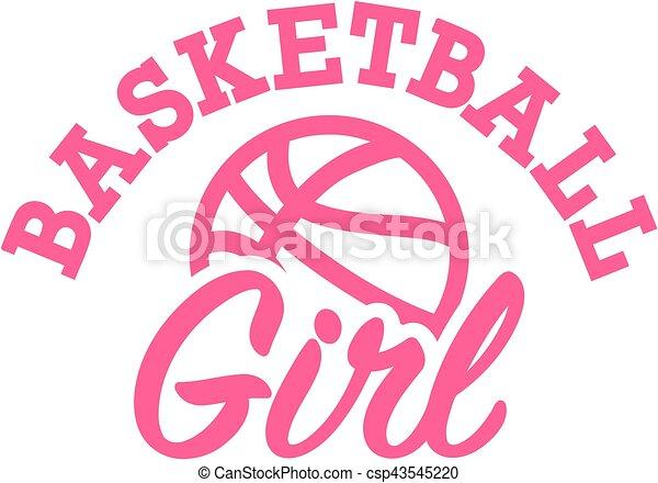 Basketball Girl - csp43545220