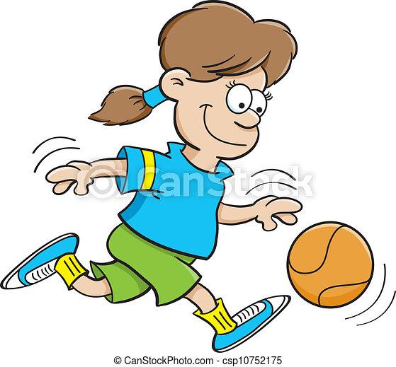 Basketball girl - csp10752175