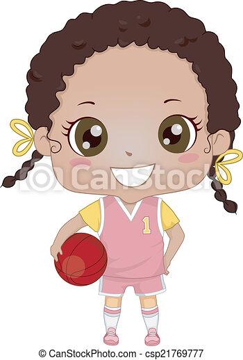 Basketball Girl - csp21769777