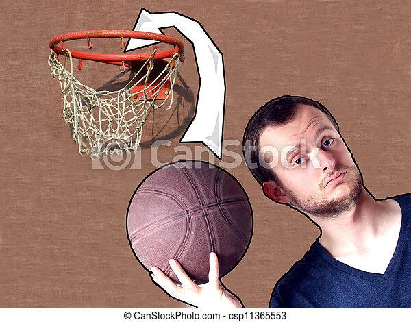 basketball guy - csp11365553