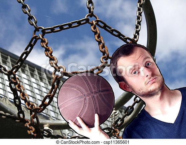 basketball guy - csp11365601
