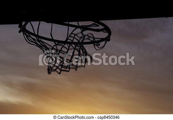 basketball hoop after shot - csp8450346