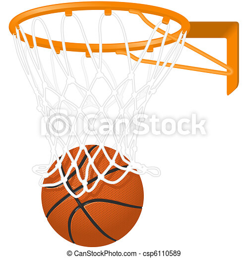 Basketball hoop and ball  - csp6110589