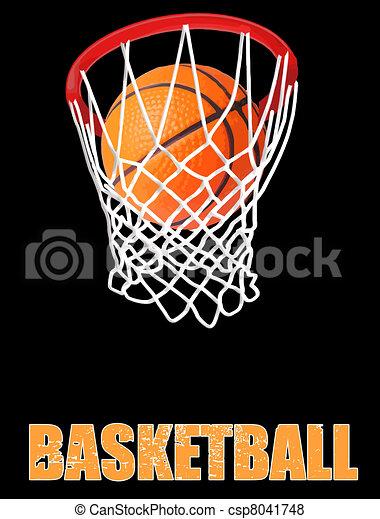 Basketball hoop - csp8041748
