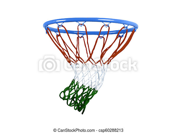 basketball hoop isolated on white. - csp60288213