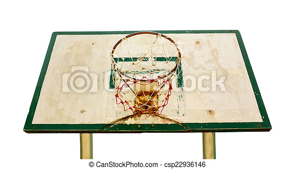 Basketball hoop isolated on white background - csp22936146