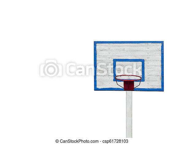 basketball hoop isolated on white background horizontal photo. - csp61728103