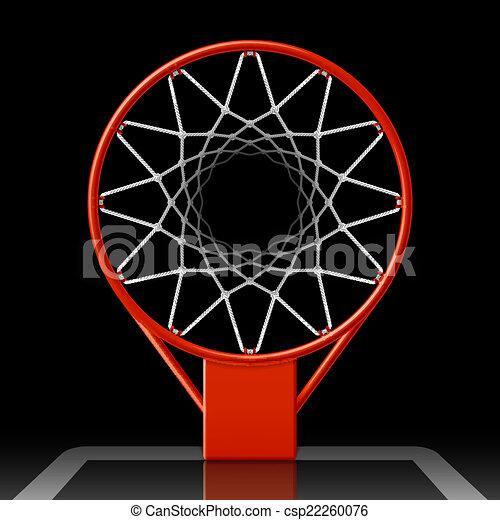 Basketball hoop on black - csp22260076