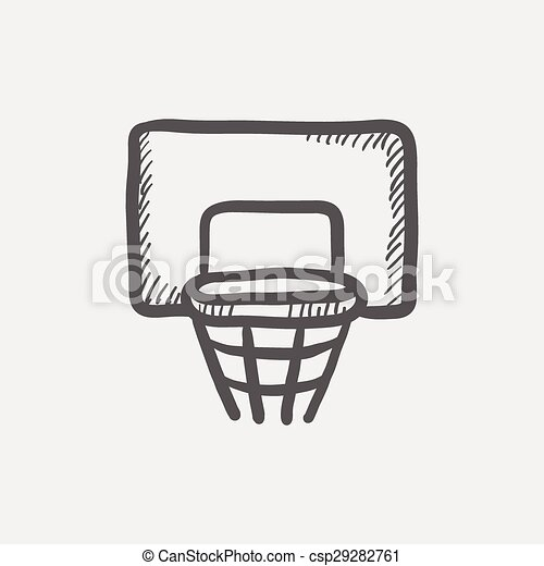 Basketball hoop sketch icon csp29282761