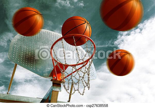 Basketball hoop. - csp27638558