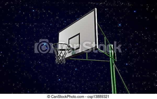 basketball hoop - csp13889321