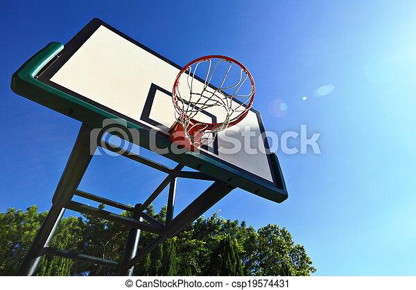 Basketball hoop - csp19574431