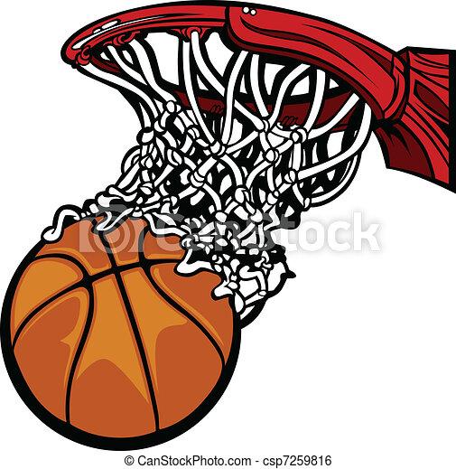 Basketball Hoop with Basketball - csp7259816