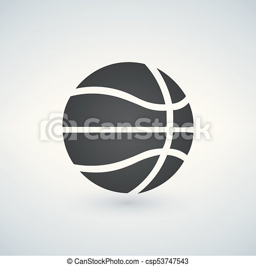 basketball icon, vector illustration, black sign on isolated background - csp53747543