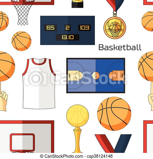 basketball icons pattern basketball game icon element for eps rh canstockphoto com basketball court background clipart outdoor basketball court clipart