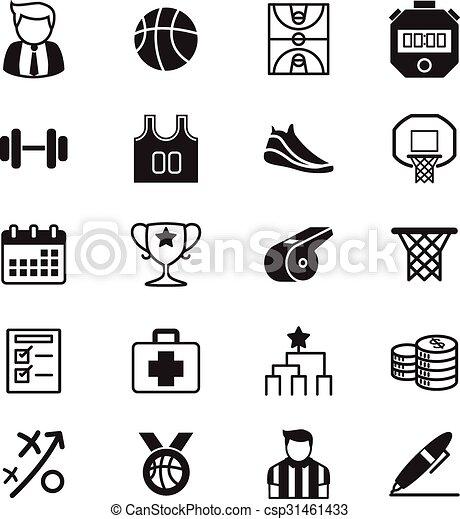 Basketball icons set - csp31461433