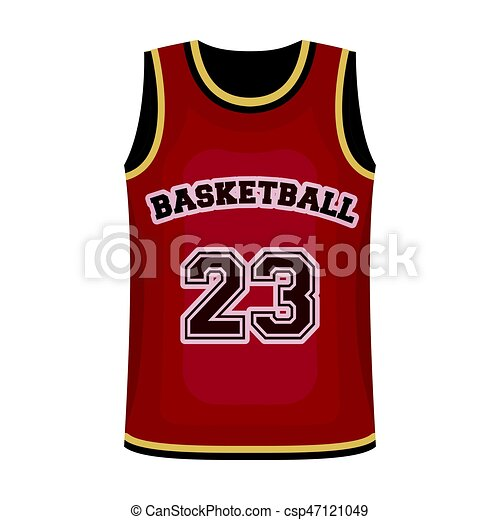 Basketball Jersey Basketball Single Icon In Cartoon Style Vector Symbol Stock Illustration Web Basketball Jersey Canstock