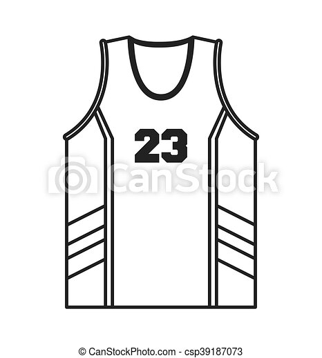 6f00ccf48b2 Flat design basketball jersey icon vector illustration.