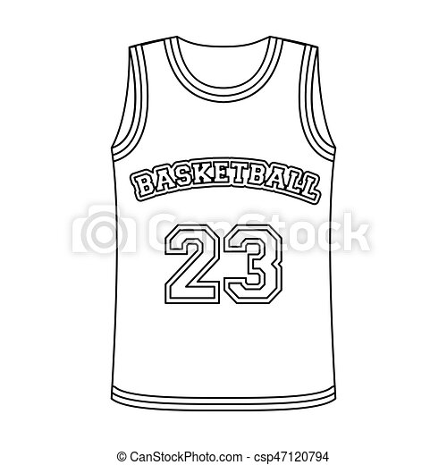 5241cd74370 Basketball jersey.Basketball single icon in outline style vector symbol  stock illustration web. -