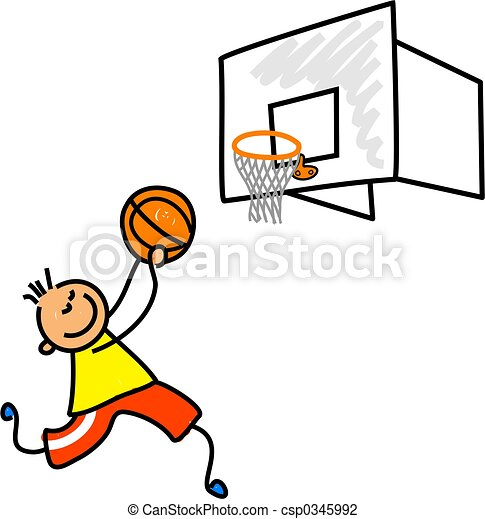 basketball kid little boy playing basketball toddler art clip rh canstockphoto com basketball court top view clipart basketball court clipart black and white