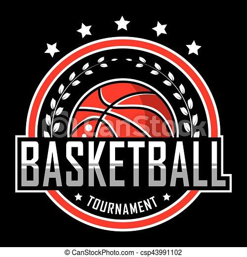 Basketball logo, America logo - csp43991102