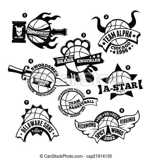Basketball Logo Badge - csp21914130