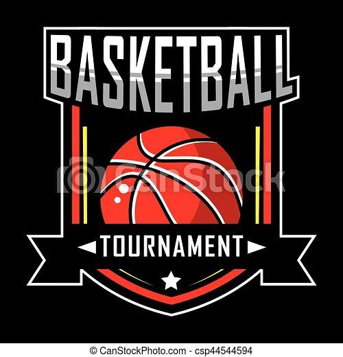 Basketball logo - csp44544594