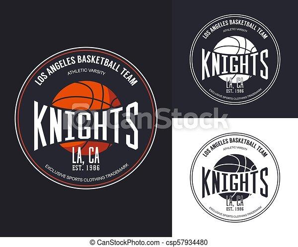 Basketball logo for t-shirt design - csp57934480