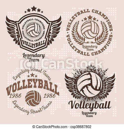 Basketball Logos, American Logo Sports - csp38687802