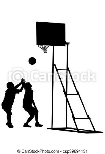 Basketball people on white - csp39694131