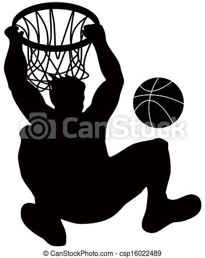 Basketball Player Dunking Ball - csp16022489